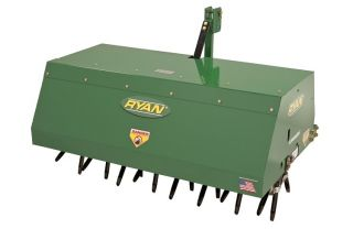 """New 48"""" Commercial Ryan Lawnaire 3 Point Hitch Tow Behind Aerator"""