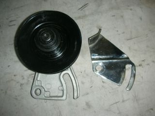Corvair All Year Fan Belt Idler Pulley and Chrome Belt Guard Greased Bearing