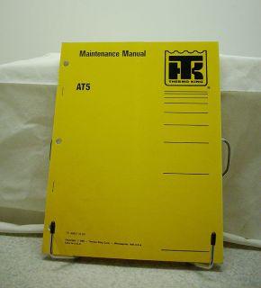 Thermo King Bus Air Conditioning AT5 Maintenance Manual
