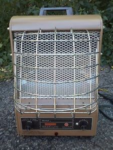 Markel Vintage Art Deco Neo Glo Electric Space Heater w Glowing Coils Mint