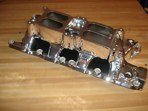 289 302 260 Ford SBF Edelbrock Performer RPM Dual Quad Carburetor Carb Intake