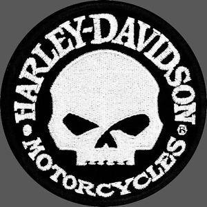 Harley Davidson Willie G Skull Round 4 inch Patch