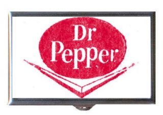 Dr Pepper Vintage Soft Drink Logo Guitar Pick or Pill Box USA Made