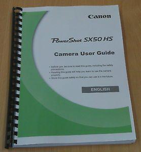 Printed Canon PowerShot SX50 HS Digital Camera Instruction Manual User Guide