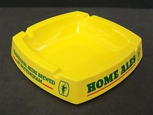 Home Ales Nottingham Square Plastic Melamine Ashtray Used Excellent