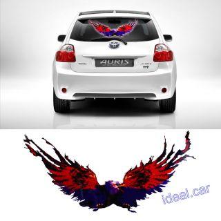 50x25cm Car Music Rhythm Eagle LED Flash Light Lamp Sound Activated Equalizer