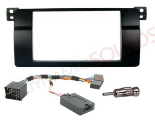 BMW 3 Series E46 1998 2002 Car CD Stereo Fitting Kit Double DIN Fascia Stalk