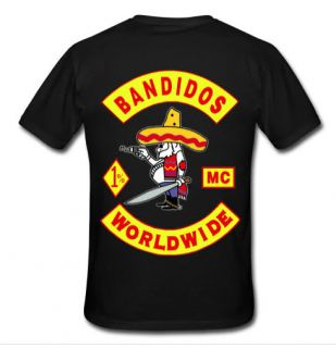 Hot New Support Local Bandidos MC Worldwide Motorcycle Club Tee T Shirt s 2XL