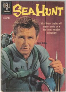 Sea Hunt TV Series Comic Book 5 Dell 1960 Very Good