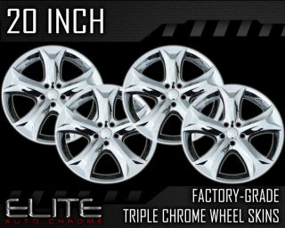 "2009 2012 Toyota Venza 20"" Chrome Wheel Skin Covers"