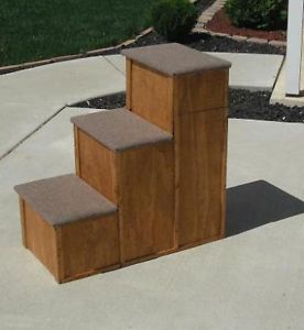 """30"""" Wood Childs 3 Step or Pet Stairs Bed Step Pet Step"""