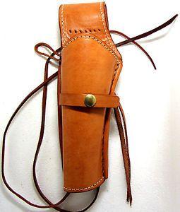 Western Cowboy Gun Revolver Pistol Leather Holster Natural Left Handed New