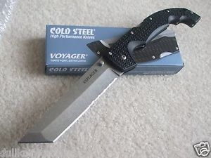 Cold Steel Voyager Extra Large Tanto Point Knife Combo Edge 29TXTH New