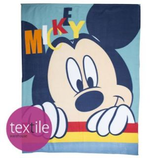 Disney Mickey Mouse Play Blue Boys Kids Soft Snuggle Plush Fleece Blanket Throw