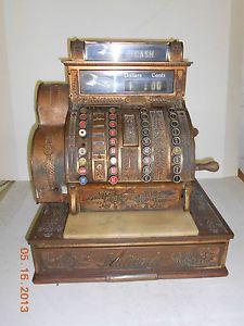 National Cash Register 1910 Model 441 Metal Base Marble Complete Nice