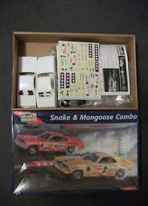 Snake and Mongoose Funny Car Combo 1 25 Prudhomme and McEwen Model Car Kit