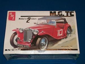 Vintage 1979 AMT MG TC Car Model Kit Kits 1 32 Scale MISB