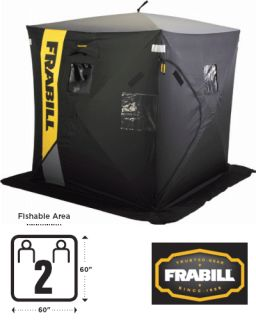 Frabill Frontier Hub Style Ice Fish House Shelter 6000