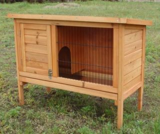 Top Opening Wooden Raised Rabbit Hutch Home Guinea Pig Pen Ferret with Legs 017