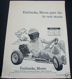 1960 Fairbanks Morse Magneto Engines Carts Go Karts Racing Karting Ad