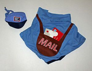 LN Large L 25 65 lb Old Navy Mail Man Delivery Dog Pet Halloween Costume Outfit