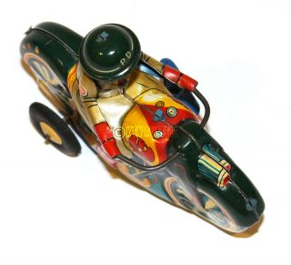 1950 RARE Modern Toys Mechanical Cable Rider Motorcycle Made in Japan ブリキ日本製