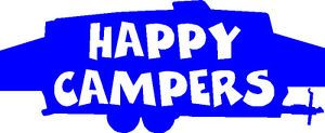 Happy camper Pop Up Trailer Sticker Decal Graphic Popup