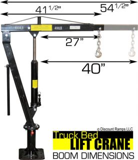 1000 lb Pickup Truck Engine Lift Hoist Crane PWC Dock s Crane 1000