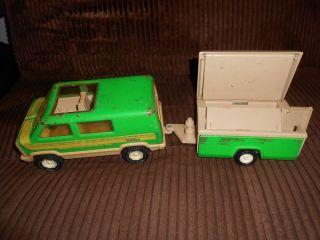Vintage 1970's RARE Tonka Toy Van Popup camper Trailer