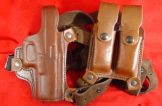 Tagua Brown Leather Shoulder Holster Colt 1911 45 Righthand