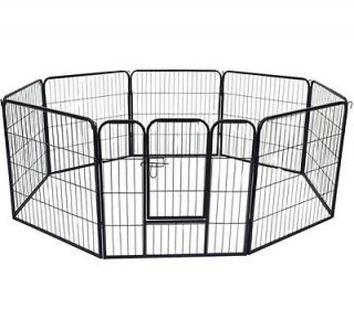 "Pawhut 32"" Heavy Duty 8 Panel Pet Playpen Dog Play Exercise Pen Cat Fence Yard"