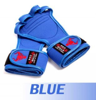 Blue Korean Sports Power Strap Weight Lifting Martial Arts Body Building Gloves