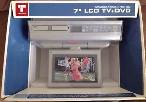 trutech klv3170 7 lcd tv dvd cd kitchen under cabinet player with