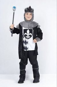 Chess King Medieval Fancy Dress Costume Outfit Childrens Knight