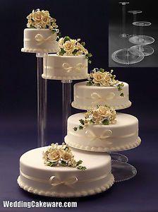 Tier Cascade Wedding Cake Stand Stands Set