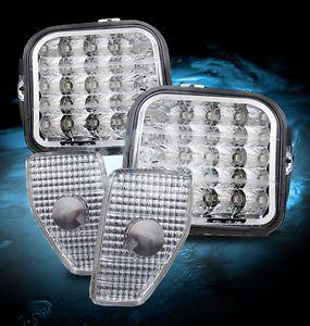 Hummer H3 Euro Clear LED Corner Lights Side Marker Lamp LED Daytime Fog Lamps