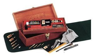 Hoppe's Bench Rest Premium Gun Cleaning Kit Wood Box Case Solvent Lubricant More