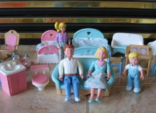 Fisher Price Loving Family Dollhouse People Furniture Accessories 28 Pieces EX