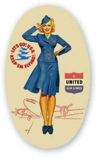 United Airlines Vintage Style Travel Decal Vinyl Sticker Luggage Label