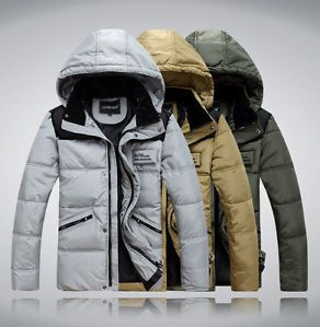 New Mens Winter Cotton Coat Short Ski Jacket Thick Hooded Outdoor Travel Casual