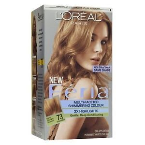 Loreal Feria Hair Color 3X 73 Dark Golden Blonde Kit