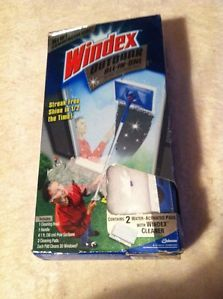 Windex Outdoor All in One Glass Window Cleaning Tool Head Handle Pole Pad Kit