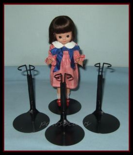 "Free U s Shipping 3 Black Kaiser Doll Stands for 8"" Tiny Betsy McCall Kickits"