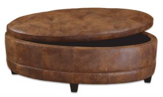 Italian Tuscan Decor Coffee Table Storage Ottoman XXL
