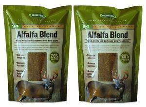 2 Moultrie MFHS4 Alfalfa Blend Deer Feeder Packages Protein Vitamins Minerals