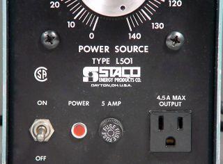 USA Made Staco L501 Variac 4 Tube Audio Power Guitar Amplifier Vintage Ham Radio