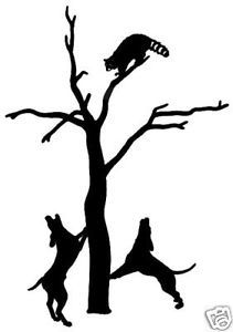 Coon Hunting Decal 10 Coon Hunting Window Sticker 6""