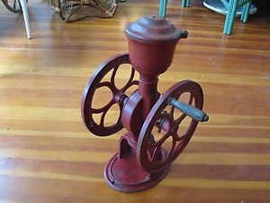 Antique Elgin National Woodruff Edwards Co Coffee Grinder Mill