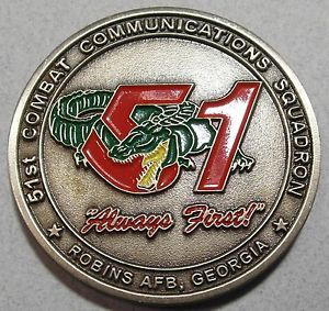 51st Combat Communications Squadron Robins Air Force Base Challenge Coin