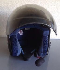 Arai Classic Black Motorcycle Helmet Medium Used Communications Mike
